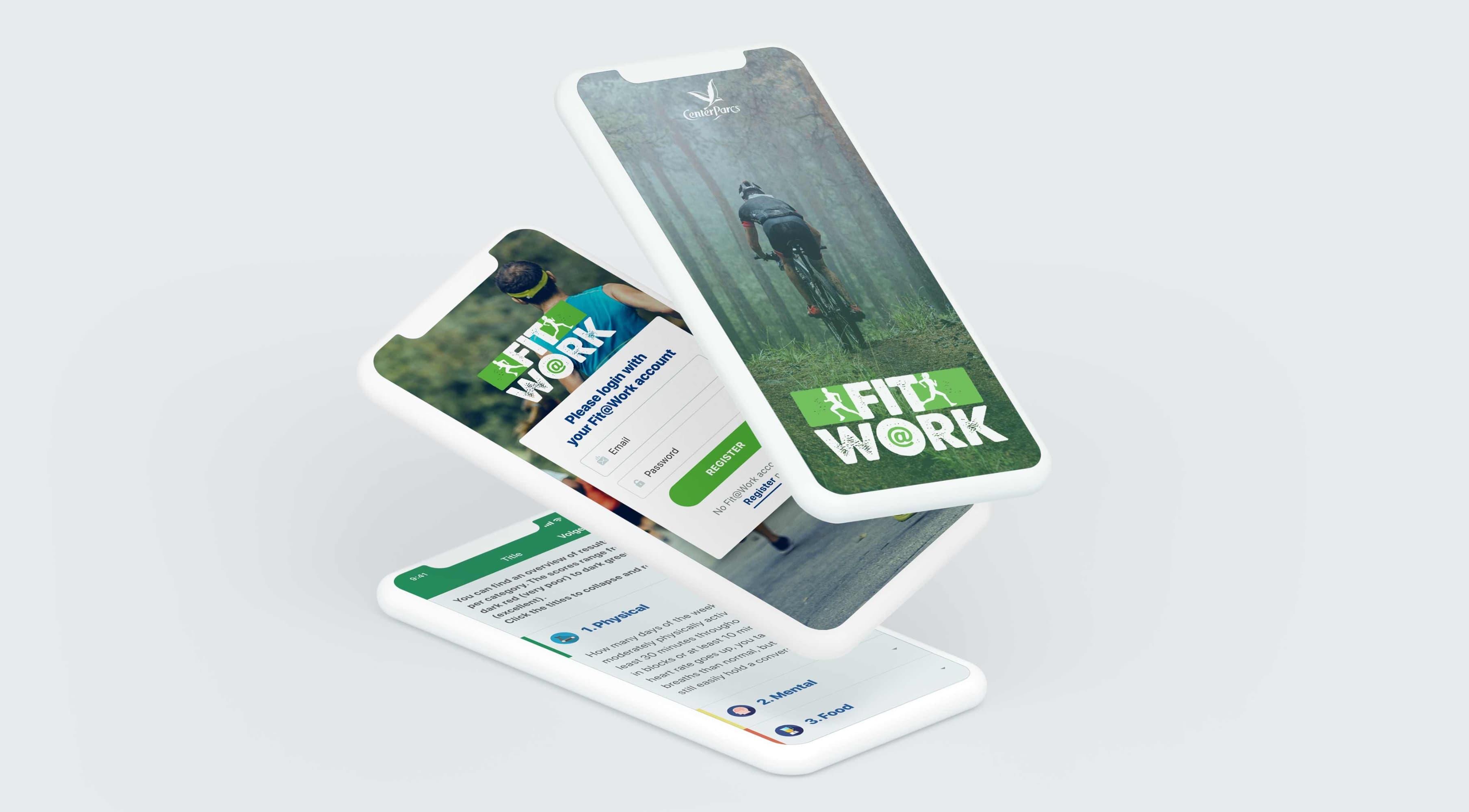 Center Parcs Fit@Work app